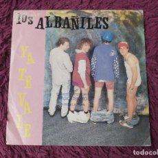 "Discos de vinilo: LOS ALBAÑILES – YA TE VALE, VINYL, 7"" SINGLE 1992 SPAIN 03.4380. Lote 288332238"