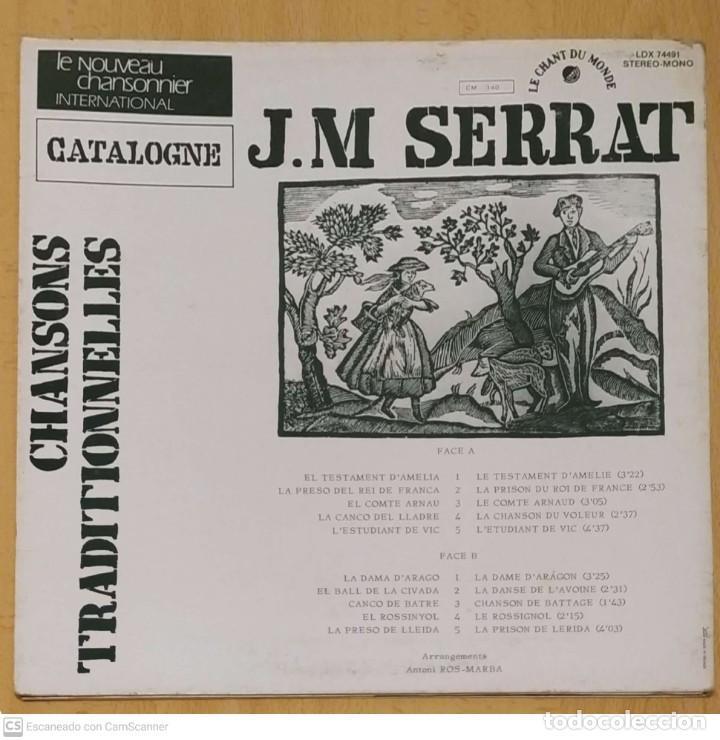 Discos de vinilo: JOAN MANUEL SERRAT (CHANSONS TRADITIONNELLES) LP FRANCIA - Foto 2 - 288335253