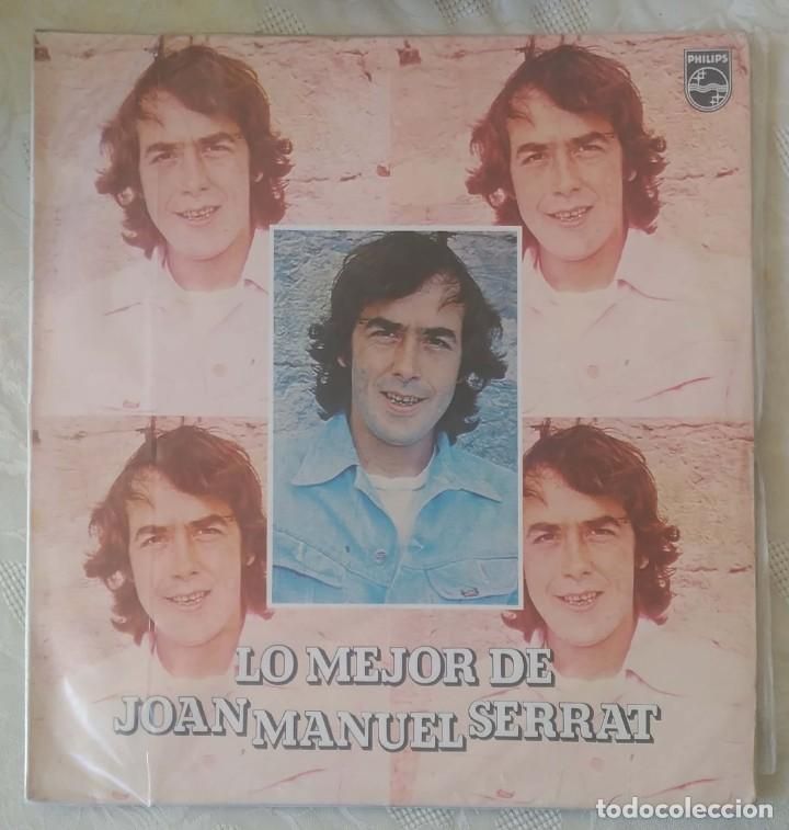JOAN MANUEL SERRAT (LO MEJOR DE JOAN MANUEL SERRAT) LP 1980 EDICIÓN COLOMBIANA (Música - Discos - LP Vinilo - Cantautores Españoles)
