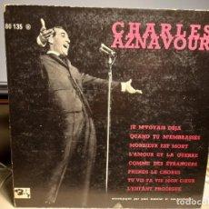 Discos de vinilo: DISCO LP DE 10 PULGADAS : CHARLES AZNAVOUR CON LA ORQUESTA DE PAUL MAURIAT. Lote 288336848