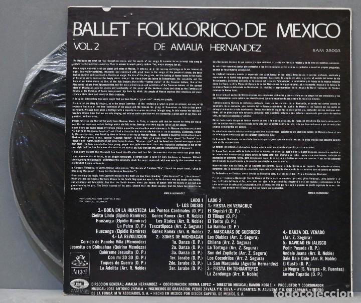 Discos de vinilo: LP. BALLET FOLKLORICO DE MEXICO. VOL. 2 - Foto 2 - 288345178