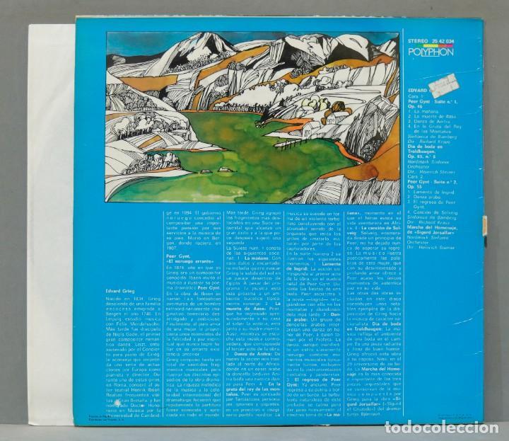 Discos de vinilo: LP. Peer Gynt Suites - Foto 2 - 288345908