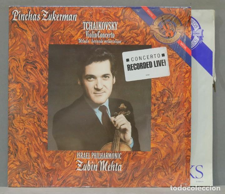 LP. MEHTA. TCHAIKOVSKY. VIOLIN CONCERTO. MELODIE. SERENADE MELANCOLIQUE (Música - Discos - LP Vinilo - Clásica, Ópera, Zarzuela y Marchas)