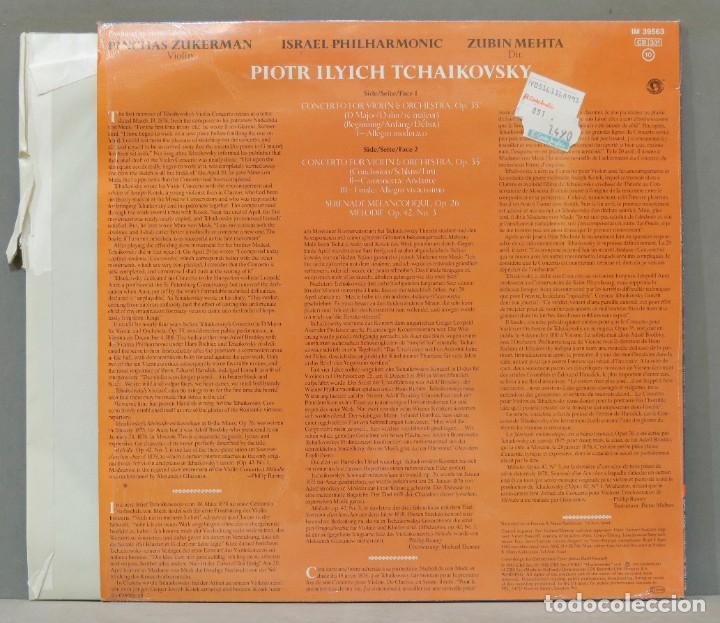 Discos de vinilo: LP. Mehta. Tchaikovsky. Violin Concerto. Melodie. Serenade Melancolique - Foto 2 - 288346038