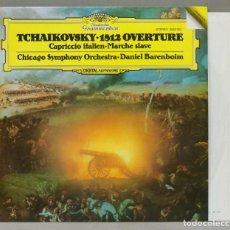 Discos de vinilo: LP. BARENBOIM. 1812 OVERTURE. CAPRICCIO ITALIEN. MARCHE SLAVE. TCHAIKOVSKY. Lote 288346103