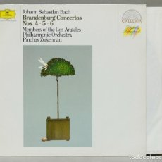 Discos de vinilo: LP. BRANDENBURG CONCERTOS NOS. 4. 5. 6. BACH. ZUKERMAN. Lote 288346248
