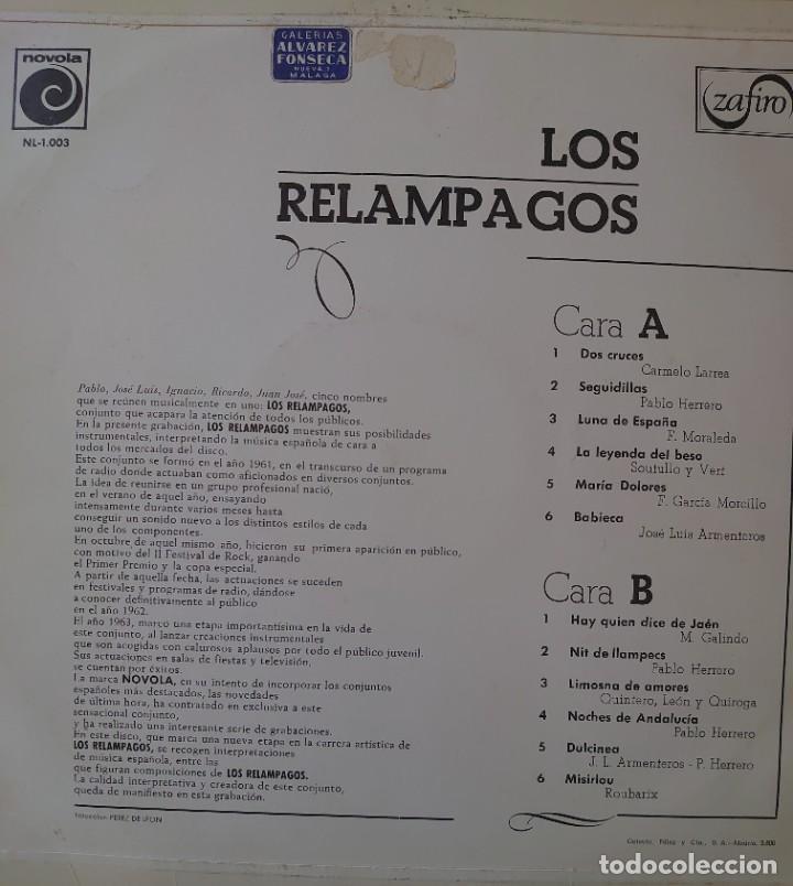 Discos de vinilo: Los Relámpagos Lp sello Novola-Zafiro editado en España año 1965... - Foto 2 - 288352053