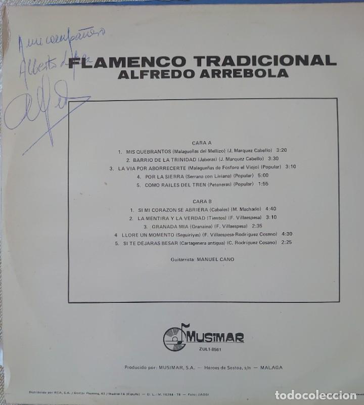 Discos de vinilo: Alfredo Arrebola con Manuel Cano Lp sello Musimar editado en España año 1978 - Foto 2 - 288352743