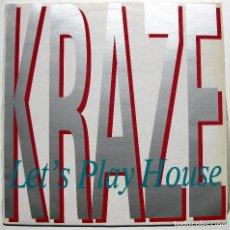 Discos de vinilo: KRAZE - LET'S PLAY HOUSE - MAXI GRIND 1989 BPY. Lote 288353008