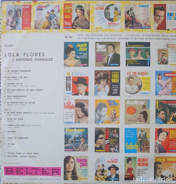 Discos de vinilo: Lola Flores Lp sello Belter editado en España año 1966 - Foto 2 - 288353093