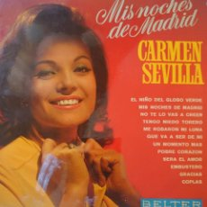 Discos de vinilo: CARMEN SEVILLA LP SELLO BELTER EDITADO EN ESPAÑA AÑO 1969. Lote 288353318