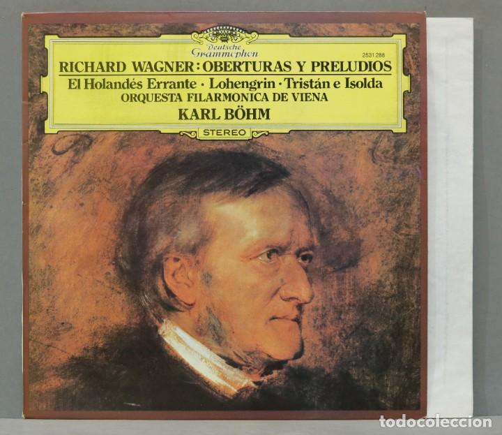LP. WAGNER. OBERTURAS Y PRELUDIOS. BOHM (Música - Discos - LP Vinilo - Clásica, Ópera, Zarzuela y Marchas)