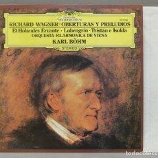 Discos de vinilo: LP. WAGNER. OBERTURAS Y PRELUDIOS. BOHM. Lote 288357553