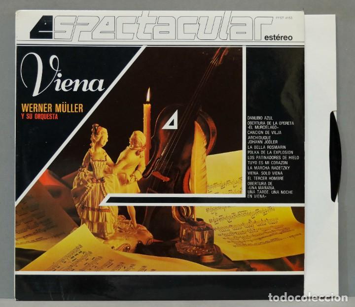 LP. WERNER MÜLLER Y SU ORQUESTA. VIENA (Música - Discos - LP Vinilo - Clásica, Ópera, Zarzuela y Marchas)