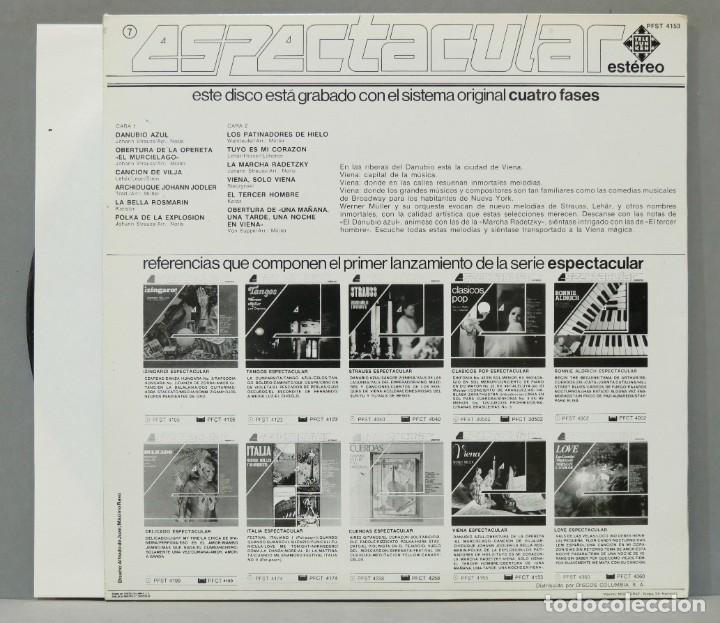 Discos de vinilo: LP. Werner Müller Y Su Orquesta. Viena - Foto 2 - 288357638