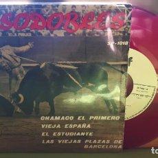 Discos de vinilo: PASODOBLES - CHAMACO EL PRIMERO +3 - SP 1018 - 1959 - COMPRA MÍNIMA 3 EUROS. Lote 288357868