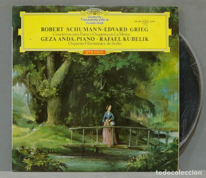 LP. SCHUMANN. EDVARD GRIEG. CONCIERTOS PARA PIANO Y ORQUESTA. KUBELIK (Música - Discos - LP Vinilo - Clásica, Ópera, Zarzuela y Marchas)