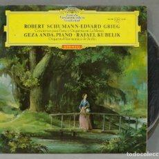 Discos de vinilo: LP. SCHUMANN. EDVARD GRIEG. CONCIERTOS PARA PIANO Y ORQUESTA. KUBELIK. Lote 288357873