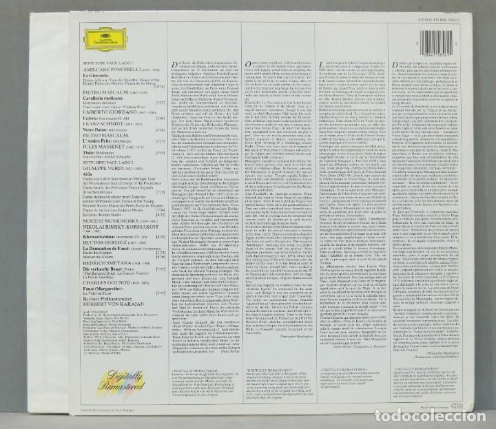 Discos de vinilo: LP. Berliner Philharmoniker. Herbert von Karajan. Dance Of The Hours - Foto 2 - 288357958