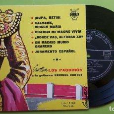 Discos de vinilo: CANTAN LOS PAQUIROS - ENRIQUE CORTÉS - AUPA BETIS +5 - CID 17015 - 1961 - COMPRA MÍNIMA 3 EUROS. Lote 288358013