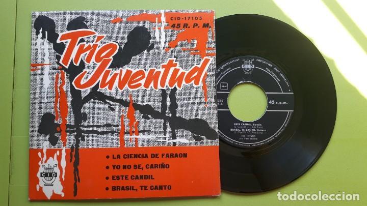 TRÍO JUVENTUD - LA CIENCIA DE FARAÓN +3 - CID 17015 - 1962 - COMPRA MÍNIMA 3 EUROS (Música - Discos de Vinilo - EPs - Grupos Españoles 50 y 60)