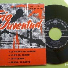 Discos de vinilo: TRÍO JUVENTUD - LA CIENCIA DE FARAÓN +3 - CID 17015 - 1962 - COMPRA MÍNIMA 3 EUROS. Lote 288358458