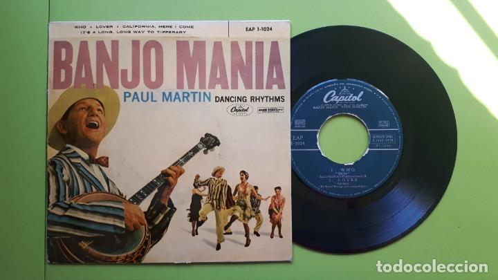 BANJO MANIA - PAUL MARTIN - DANCING RHYTMS - WHO + 3 - 1959 - COMPRA MÍNIMA 3 EUROS (Música - Discos de Vinilo - EPs - Country y Folk)