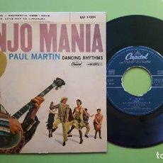 Discos de vinilo: BANJO MANIA - PAUL MARTIN - DANCING RHYTMS - WHO + 3 - 1959 - COMPRA MÍNIMA 3 EUROS. Lote 288359053