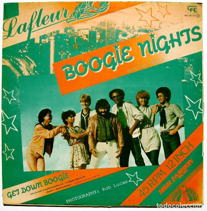 Discos de vinilo: Lafleur - Boogie Nights (Special Remix) - Maxi CFE 1983 BPY - Foto 2 - 288360948