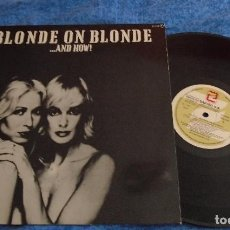 Discos de vinilo: ANGELS SPAIN LP 1980 BLONDE ON BLONDE ... AND HOW ! ELECTRONIC SYNTH POP NEW WAVE DISCO LED ZEPPELIN. Lote 288218743