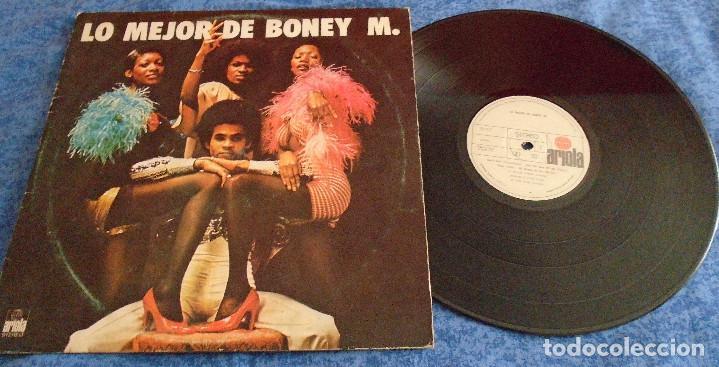 BONEY M SPAIN LP 1977 LO MEJOR DE BONEY M ELECTRONIC POP DISCO FUNK SOUL RECOPILACION GRANDES EXITOS (Música - Discos - LP Vinilo - Disco y Dance)