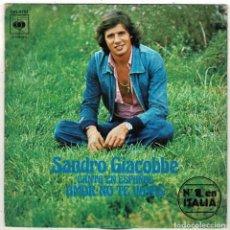 Discos de vinilo: SANDRO GIACOBBE - AMOR, NO TE VAYAS - HACE DIEZ AÑOS. SINGLE. Lote 288366858