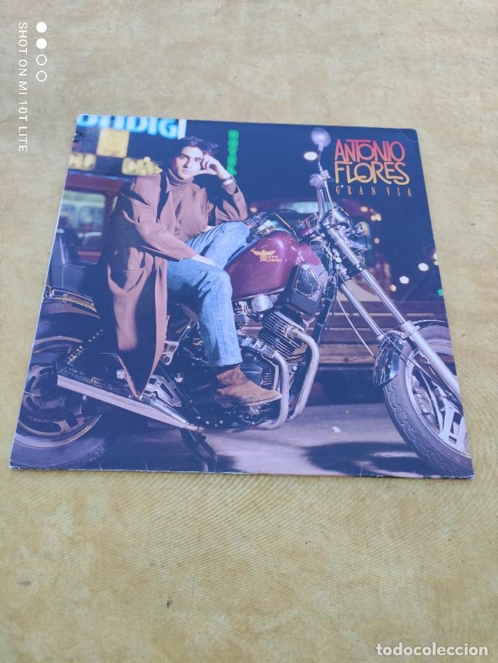 Discos de vinilo: LP. ORIGINAL ANTONIO FLORES - GRAN VÍA - SELLO TWINS T 3076 SP. AÑO 1988. COMPLETO CON LETRAS - Foto 2 - 288371798