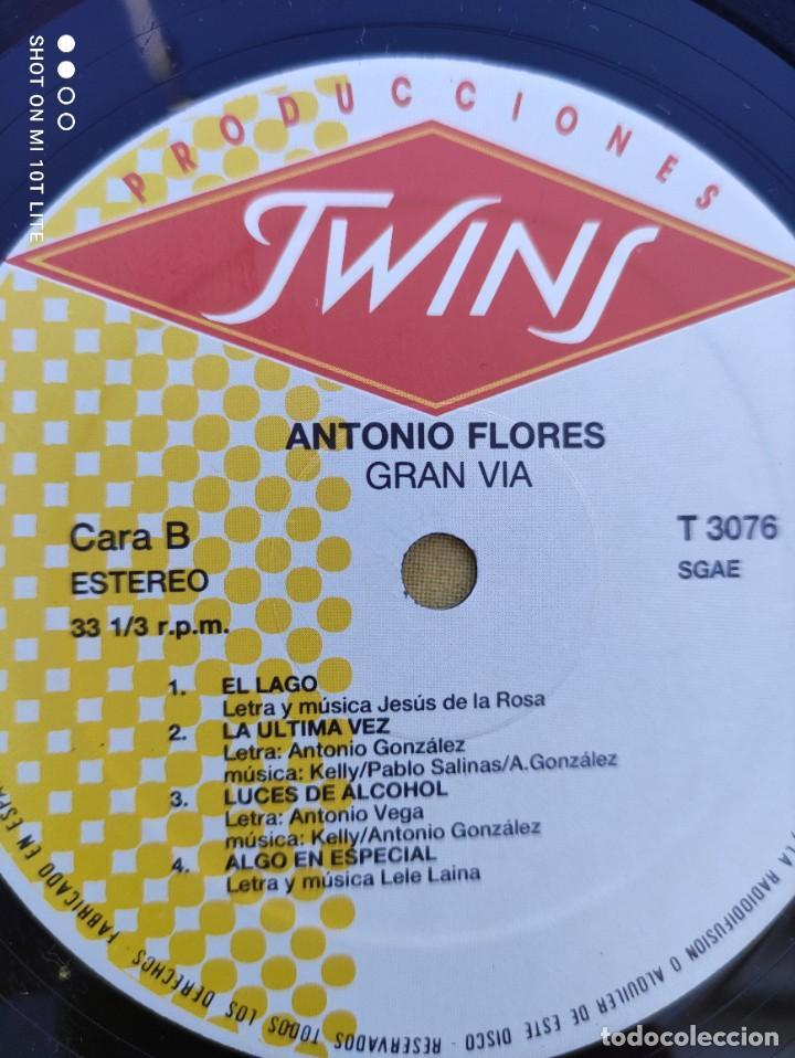 Discos de vinilo: LP. ORIGINAL ANTONIO FLORES - GRAN VÍA - SELLO TWINS T 3076 SP. AÑO 1988. COMPLETO CON LETRAS - Foto 9 - 288371798