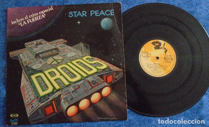 DROIDS SPAIN LP 1978 STAR PEACE LA FUERZA ELECTRONIC SYNTH POP ELECTRO DISCO MUSICA ESPACIAL BARCLAY (Música - Discos - LP Vinilo - Disco y Dance)