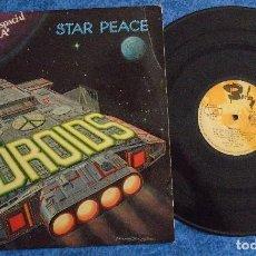 Discos de vinilo: DROIDS SPAIN LP 1978 STAR PEACE LA FUERZA ELECTRONIC SYNTH POP ELECTRO DISCO MUSICA ESPACIAL BARCLAY. Lote 288376663
