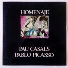 Discos de vinilo: HOMENAJE A PAU CASALS Y PABLO PICASSO - CONCIERTO EN LA CASA BLANCA ORQUESTA DE MARLBORO -CBS 1973. Lote 288381918
