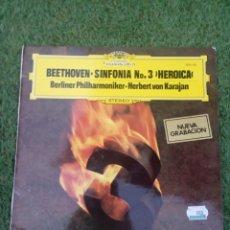 Discos de vinilo: VINILO BEETHOVEN SINFONIA N°3 HEROICA. Lote 288382683