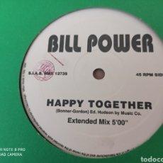 "Discos de vinilo: BILL POWER - HAPPY TOGETHER (12""). Lote 288373898"
