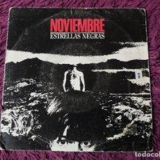 """Discos de vinilo: NOVIEMBRE – ESTRELLAS NEGRAS , VINYL 7"""" SINGLE 1992 SPAIN P-396 PROMO. Lote 288387923"""