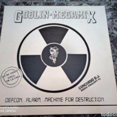 """Discos de vinilo: VARIOUS - GOBLIN MEGAMIX - DEFCON..ALARM..MACHINE FOR DESTRUCTION (12""""). Lote 288388178"""