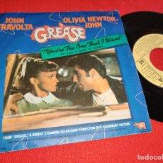Discos de vinilo: GREASE OST BSO YOU'RE THE ONE THAT I WANT +1 7'' 1978 RSO ESPAÑA SPAIN OLIVIA NEWTON JOHN TRAVOLTA. Lote 288389298