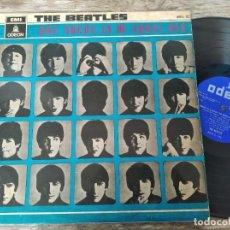 Discos de vinilo: THE BEATLES - HARD DAY'S NIGHT ********* RARO LP EDICIÓN ESPAÑOLA MONO 1964 SELLO AZUL OSCURO. Lote 288390113