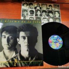 Discos de vinilo: EL ULTIMO DE LA FILA COMO LA CABEZA AL SOMBRERO LP VINILO DEL AÑO 1988 CON ENCARTE CONTIENE 10 TEMAS. Lote 288392568