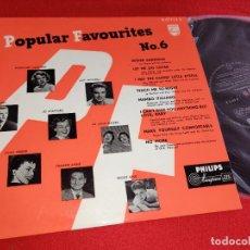 Discos de vinilo: POPULAR FAVOURITES Nº6 10'' 25 CTMS 1955 HOLLAND LAINE+PEGGY KING+STAFFORD+WEBER+MITCHELL++. Lote 288394303
