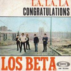Discos de vinilo: SINGLE DE LOS BETA CANTAN DOS TEMAS DE EUROVISION 68 ' LA , LA , LA - CONGRATULATIONS. Lote 288395878