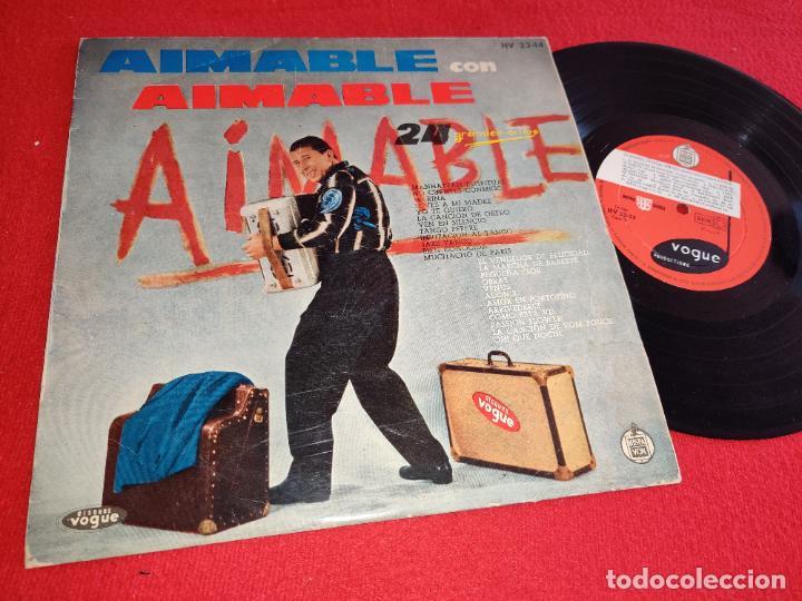 AIMABLE CON 24 GRANDES EXITOS 10'' 25 CTMS 1960 VOGUE ESPAÑA SPAIN (Música - Discos - LP Vinilo - Canción Francesa e Italiana)