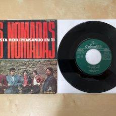 """Discos de vinilo: LOS NOMADAS - ME GUSTA REIR / PENSANDO EN TI - SINGLE 7"""" - SPAIN 1970 PROMO. Lote 288396933"""