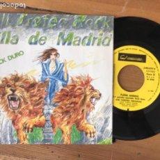 Discos de vinilo: DISCO SINGLE VIII TROFEO ROCK VILLA MADRID. ROCK DURO.FURIA ANIAL. 1985. Lote 288398388