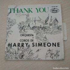 Discos de vinilo: ORQUESTA Y COROS DE HARRY SIMEONE - VOCES EN RITMO - RARO EP SPAIN DE 1964 EN BUEN ESTADO. Lote 288400023